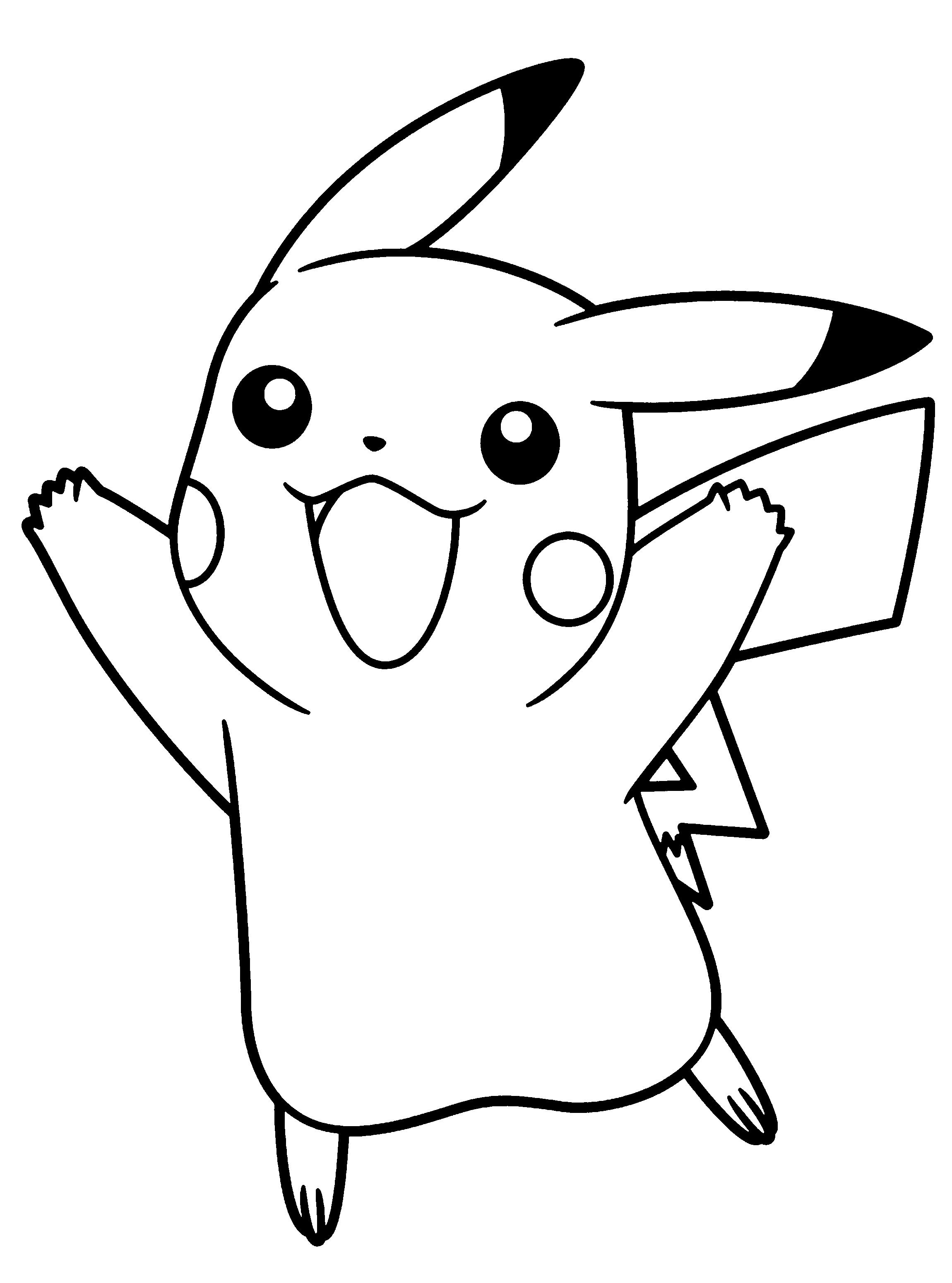 Dibujos pikachu para dibujar imprimir colorear y for Comedor facil de dibujar