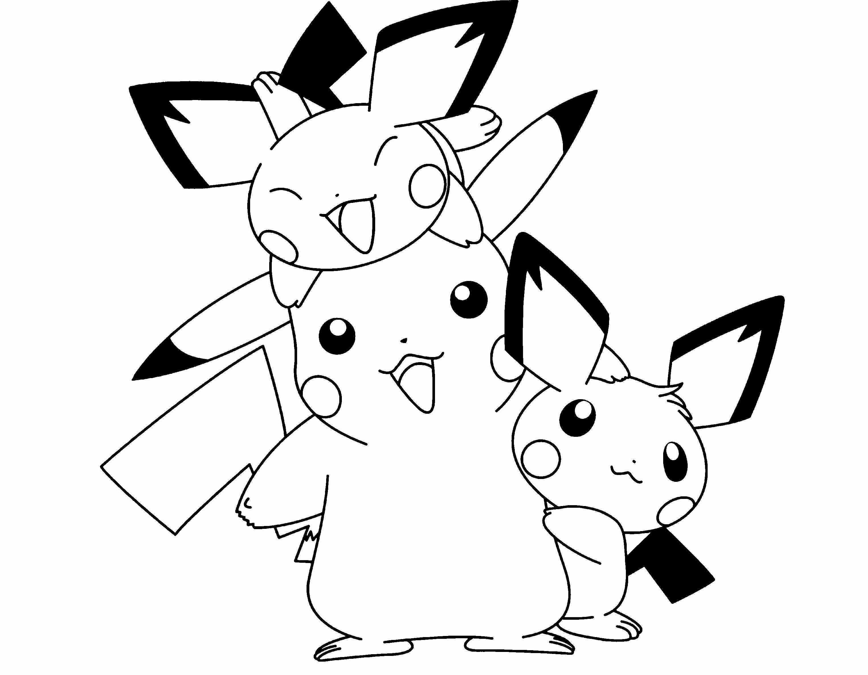 Dibujos Para Cortar Y Colorear: Dibujos Pikachu Para Dibujar, Imprimir, Colorear Y