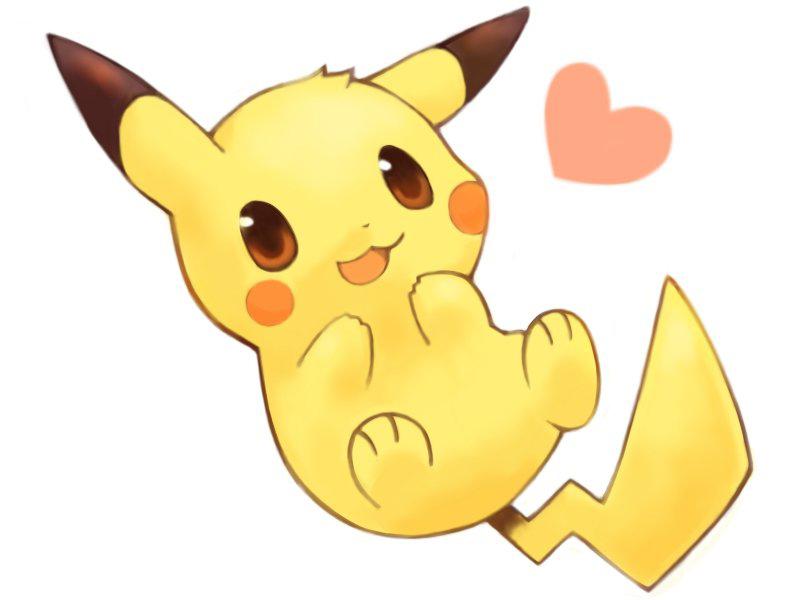 Imagenes De Pikachu Kawaii Para Colorear