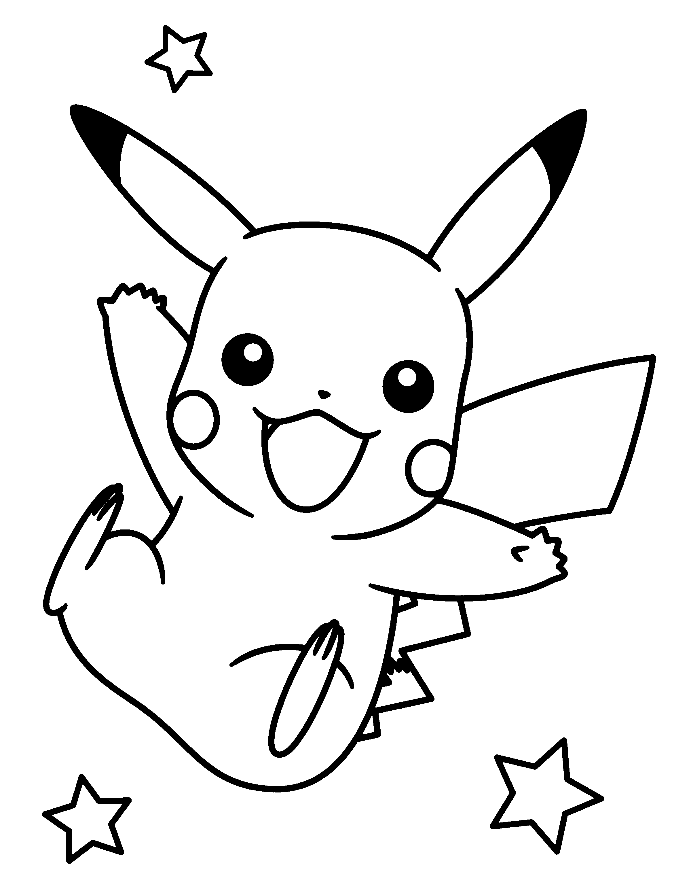 Dibujos pikachu para dibujar imprimir colorear y for Pikachu coloring pages printable