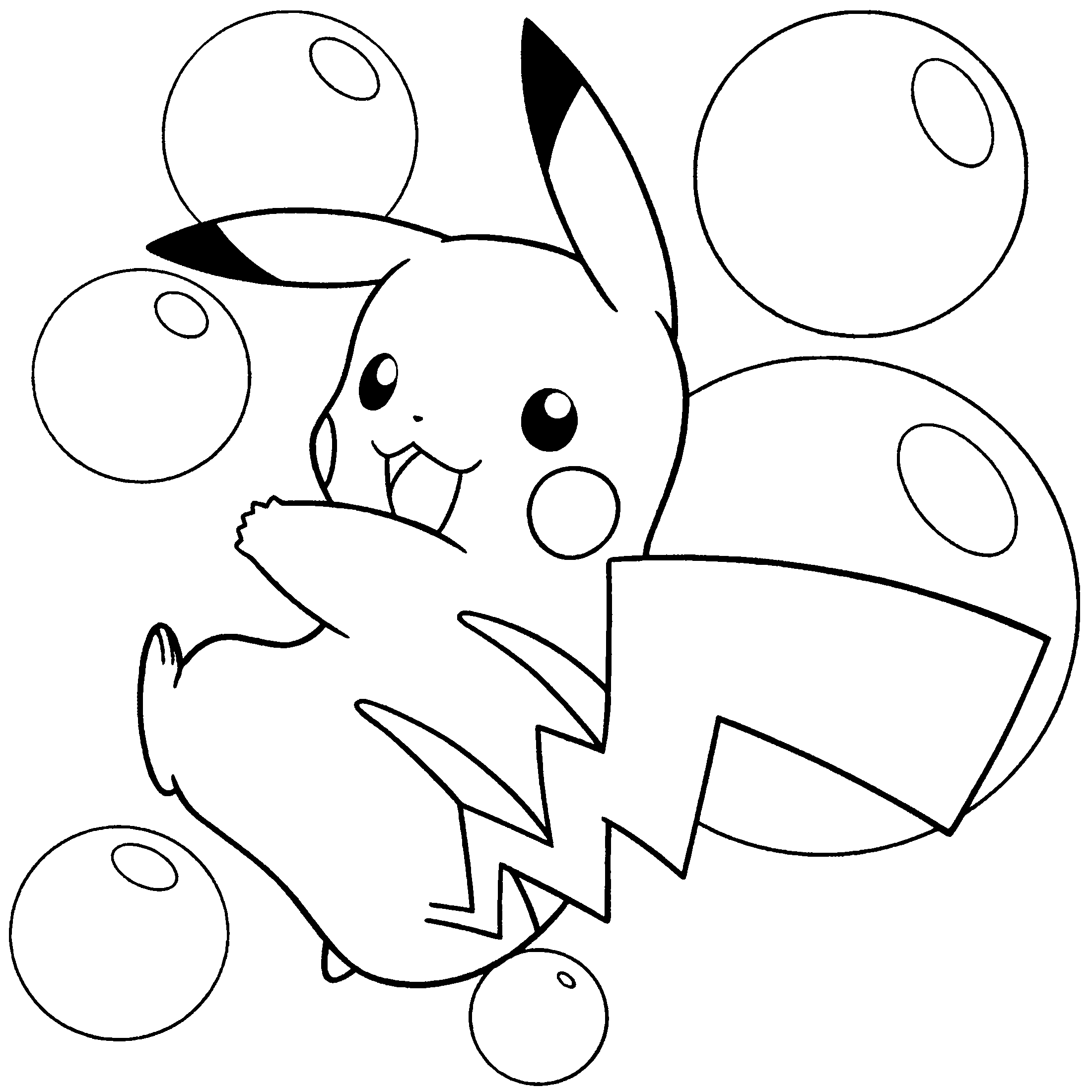 Dibujos pikachu para dibujar imprimir colorear y for Pokemon pikachu coloring pages free