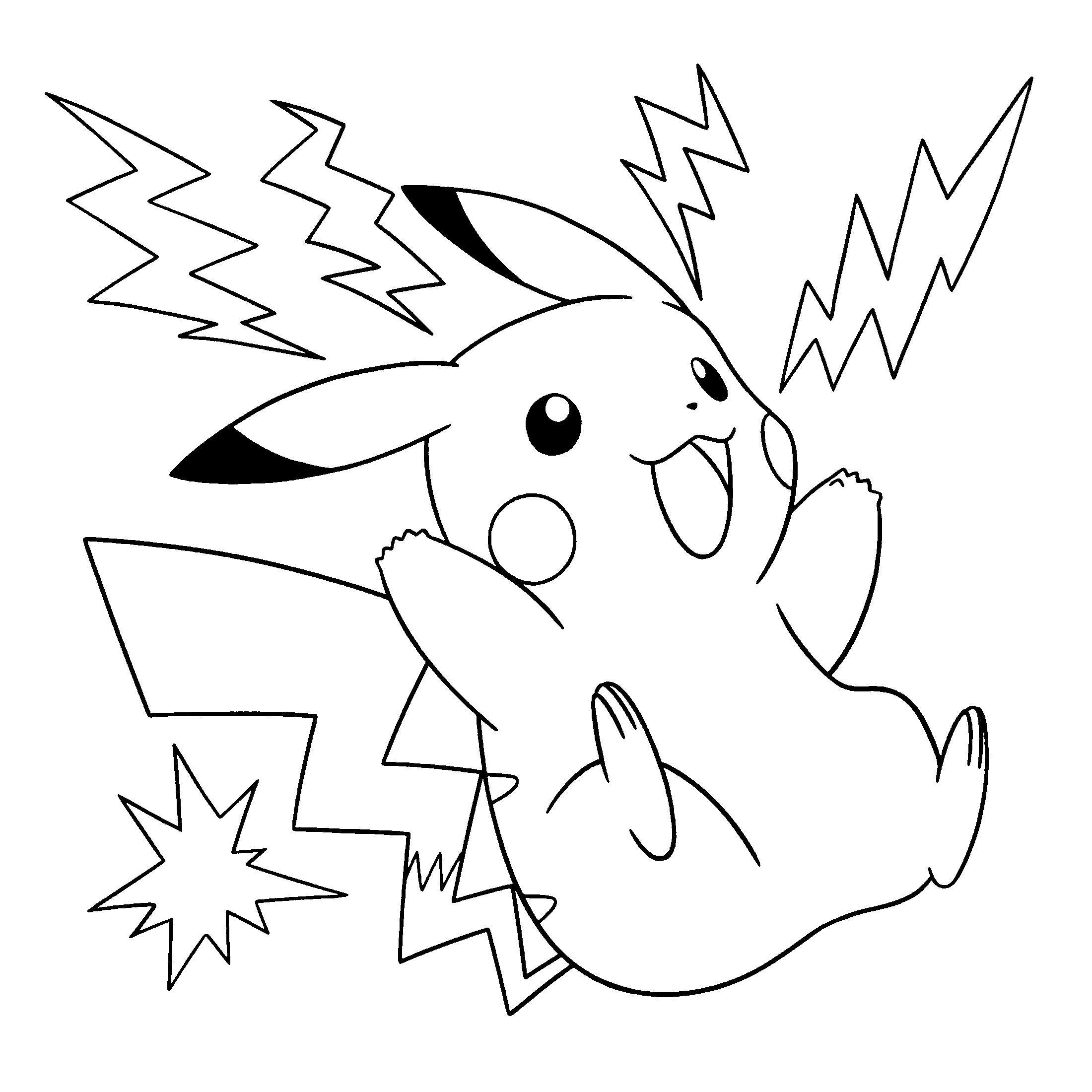 Dibujos Pikachu Para Dibujar Imprimir Colorear Y