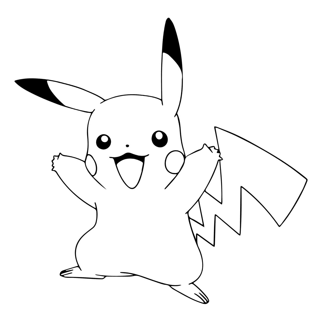 ▷ Dibujos Pikachu para dibujar, imprimir, colorear y recortar ...