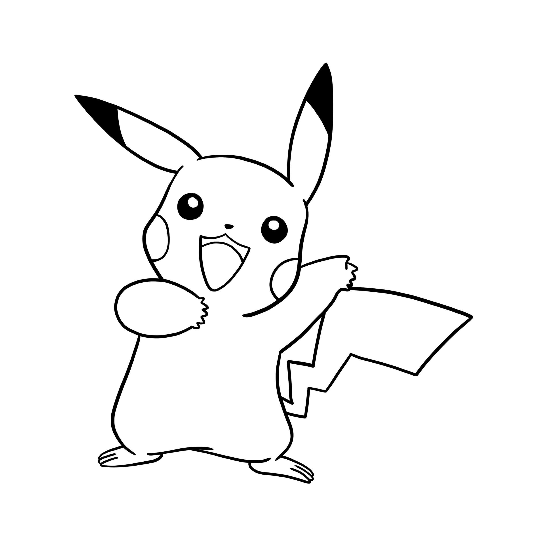 Line Drawing Pictures : Dibujos pikachu para dibujar imprimir colorear y