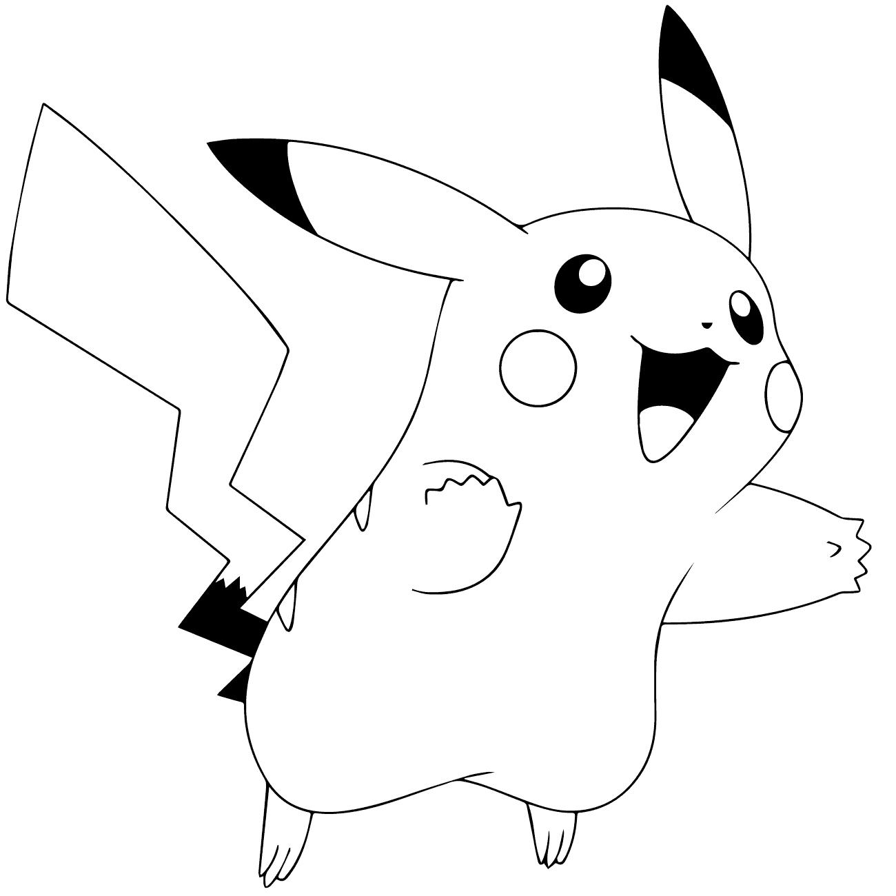 Dibujos pikachu para dibujar imprimir colorear y - Dibujos de vinilo para paredes ...
