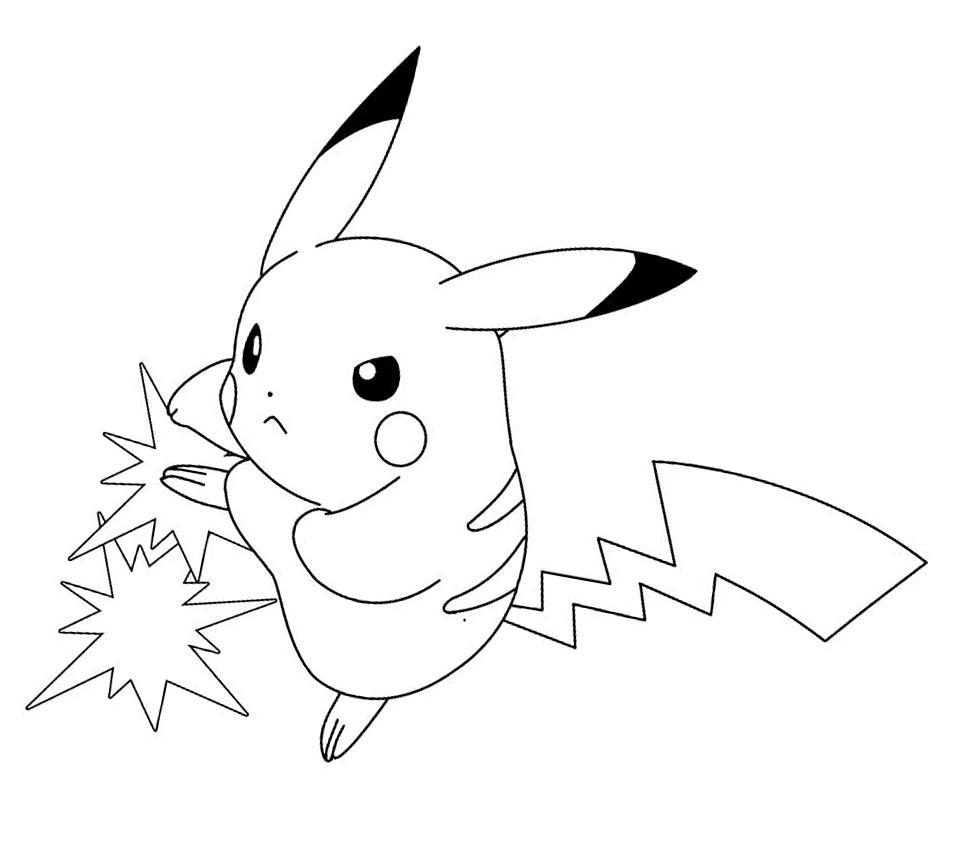 Dibujos pikachu para dibujar imprimir colorear y recortar f cilmente - Dibujos originales para pintar ...